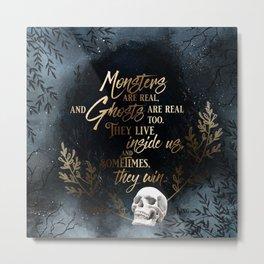 S King - Ghosts & Monsters Metal Print