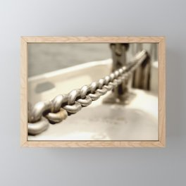 Anchor chain in detail Framed Mini Art Print