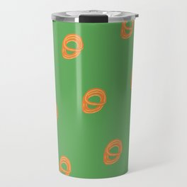 Jalebi Pattern- Moss Green Travel Mug