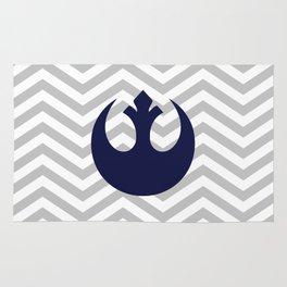 Rebel Alliance Chevrons Dark Blue Rug