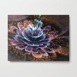 Colorful Fractal Flower - Fractal Artwork Metal Print