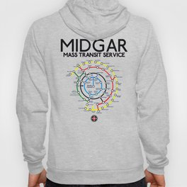 Final Fantasy VII - Midgar Mass Transit System Map Hoody