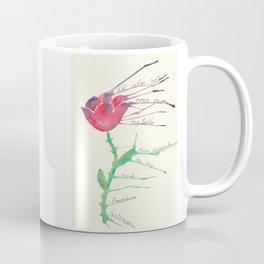 Rose with Emma Goldman quote Coffee Mug