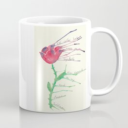 Rose with Emma Goldman quote Coffee Mug