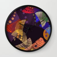 cocktail Wall Clocks featuring Fruit cocktail. by Mary Berg