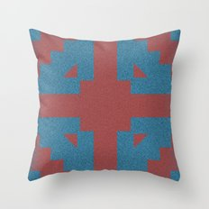 Blue & Red Noises Throw Pillow