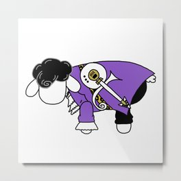 Purple Sheep Metal Print