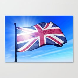 The British flag waving on the wind Canvas Print