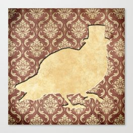In which a pigeon is fancy Canvas Print