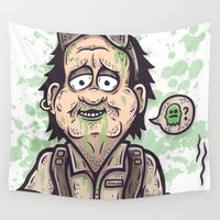 """ghost Wall Tapestries featuring """"...GHOST?"""" by SINDY SINN"""
