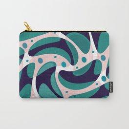Teal Pink White Navy Shape Design Carry-All Pouch