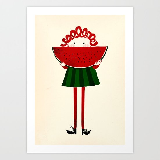 Melone girl Art Print