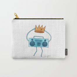 boombox holding a paper crown Carry-All Pouch