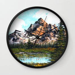 Bob Ross Mountain Artwork Wall Clock
