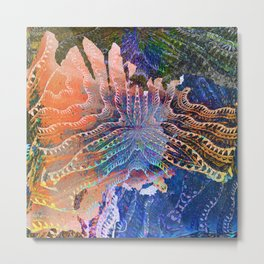 Abstract Caverns Meditation Painting Metal Print