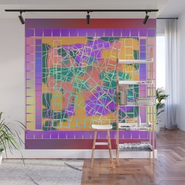 SCRIBBLES AND LADDERS Wall Mural