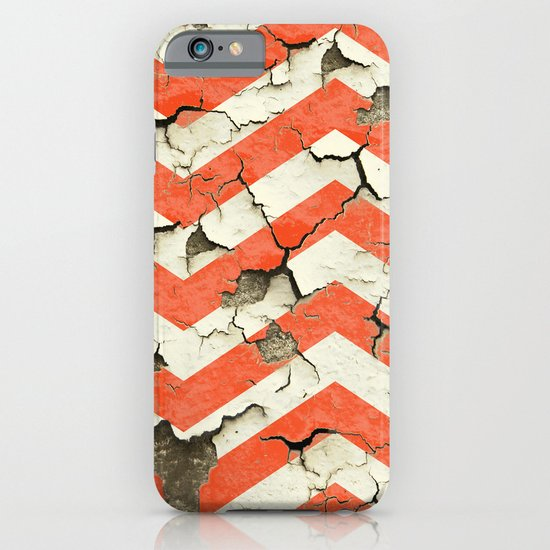 Peeling Chevrons Orange iPhone & iPod Case