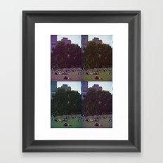 Saturday, In The Park Framed Art Print