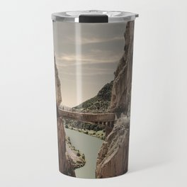 """The most dangerous trail in the world II"". El Caminito del Rey  Travel Mug"