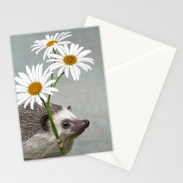 Hedgehog in love Stationery Cards