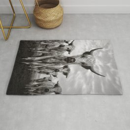 Highland Cattle Mixed Breed Mono Rug