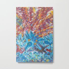 Life Ignition from 8ft high spray painted mural done live at festival Metal Print