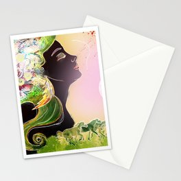 Caballos galopan Stationery Cards