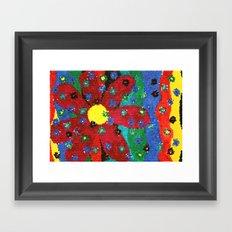 Mosaic flower Framed Art Print