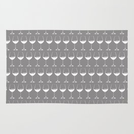 Wine Glasses on Grey Rug