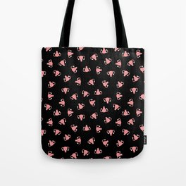 Crazy Happy Uterus in Black, Small Tote Bag