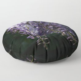 Wisteria With Garden Background Floor Pillow