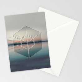 Tranquil Landscape Geometry Stationery Cards