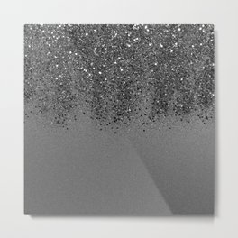 Sparkling Silver Gray Lady Glitter #2 (Faux Glitter) #shiny #decor #art #society6 Metal Print