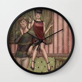 Adrinette - Sweethearts Wall Clock