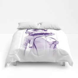 Space Woman Comforters