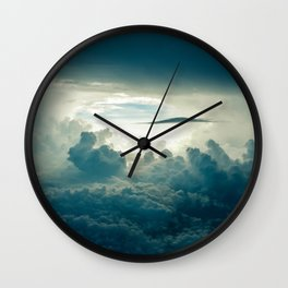 Clouds white & grey Wall Clock