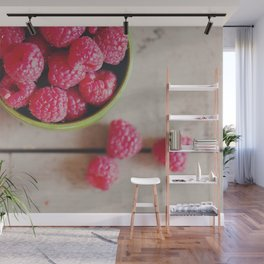 there's something about the red of a raspberry ... Wall Mural