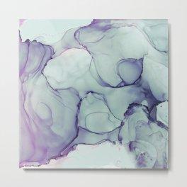 Soft Blue Mist Metal Print