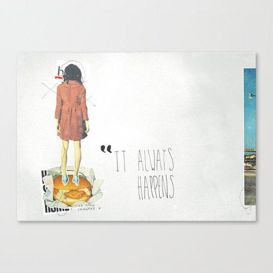 It Always Happens | Collage Canvas Print