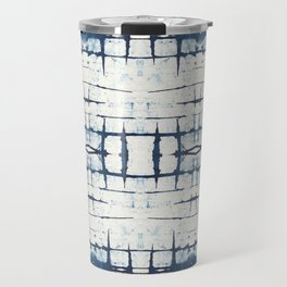 Faded Japanese Shibori Travel Mug
