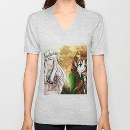 Tolkien Elves (Nyo!RussLiet) Unisex V-Neck