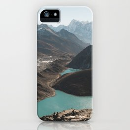 Gokyo Ri overlooking Gokyo Lakes in Everest Region iPhone Case
