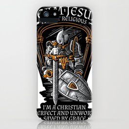 Knight Templar Crusader Shirt - I'm on Team Jesus iPhone Case