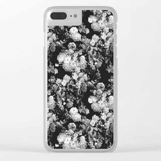 Through The Flowers // Floral Collage Clear iPhone Case