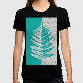 Natural Outlines - Fern Teal & Concrete #180 T-shirt