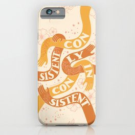 Consistently Inconsistent - Orange iPhone Case