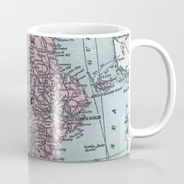 Norway and Sweden, antique map Coffee Mug