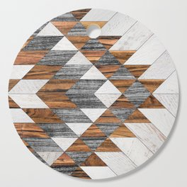 Urban Tribal Pattern 12 - Aztec - Wood Cutting Board