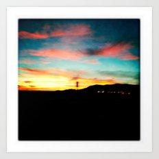 High Desert Sunset Art Print