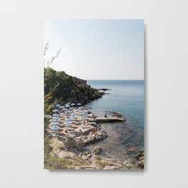 Mediterranean Summer in Greece Metal Print